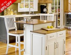 Make your dream kitchen a reality with this collection of must-have furniture, appliances, and more. Whip up dinner like a pro with fuel range stoves and spacious pot racks, raise the bar on breakfast with traditional kitchen island sets and colorful espresso machines, and deck out your counters with sleek and professional-style blenders.