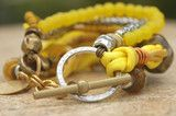 Mixed Media Yellow Bracelet