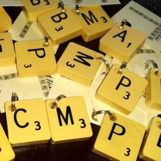 Scrabble Tile Dog Tag Decoration | Waggy Campers