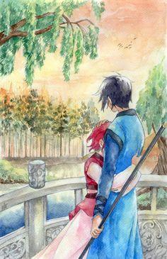 Akatsuki no Yona OTP. It's Hak and Yona! Happy Valentine's Day everyone!! Akatsuki no Yona (c) Mizuho Kuzanagi Art by