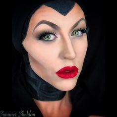 Maleficent Halloween makeup by Summer Sheldon