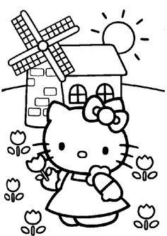 hello kitty coloring page / #printable