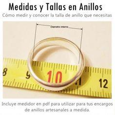 MEDIDAS Y TALLAS EN ANILLOS
