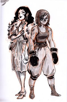 Inktober #16 - Asami and Korra