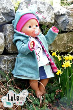 Besuche den Beitrag für mehr Info. Crafts To Sell, Crafts For Kids, Baby Born Kleidung, Baby Born Clothes, Dolly Doll, Polka Dot Leggings, Bad Tattoos, Doll Patterns, Fabric Crafts