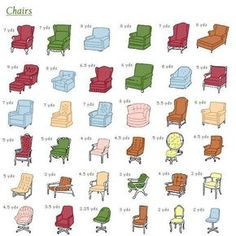 guide for how much fabric need to re-cover chair Facebook source