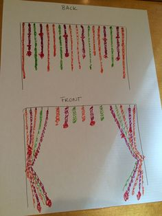 HANGING FLORAL PLAN: Green in drawing will be white. These will hang possibly with coordinating ribbon streamers from metal mandap