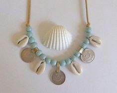tassel necklace aqua faux suede necklace por beachcombershop