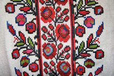 Ukrainian folk blouse embroidery.