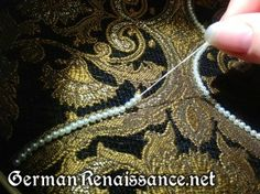How to Apply Pearls and Beads in Smooth Lines, from German Renaissance.net