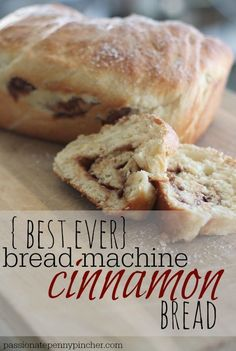 Bread Machine Cinnamon Bread is the best you will ever make, and so easy to make at home!This Bread Machine Cinnamon Bread is the best you will ever make, and so easy to make at home! Easy Bread Machine Recipes, Best Bread Machine, Bread Maker Recipes, Baking Recipes, Bread Machine Cinnamon Rolls, Breadmaker Bread Recipes, Bread Machine Rolls, Best Bread Recipe, Cinnamon Recipes