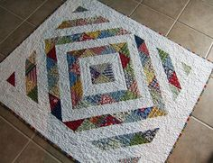 baby boy quilt finished by creativelittledaisy, via Flickr