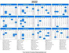 Downloadable Calendars 2022 Excel Calendar, Printable Blank Calendar, Monthly Calendar Template, Kids Calendar, Yearly Calendar, Calendar Design, 2021 Calendar, Monthly Planner, Online Calendar