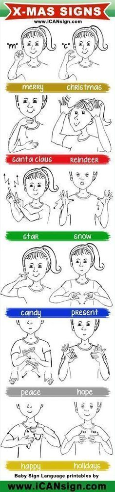 Baby Sign Language - ASL Christmas Signs chart- not accurate for Calgary! Sign Language Chart, Sign Language For Kids, Sign Language Words, Sign Language Alphabet, British Sign Language, Learn Sign Language, Speech Language Pathology, Speech And Language, Language Lessons