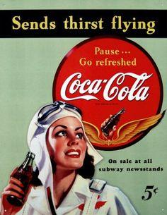 Coke Aviator----have metal sign