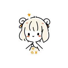 Kawaii Art, Kawaii Anime Girl, Illustrations, Illustration Art, Simple Anime, Crayon Shin Chan, Hair Sketch, Doodle Icon, Simple Art