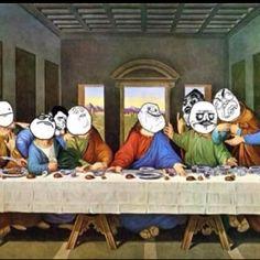 Last dinner Jokes, Dinner, Painting, Art, Dining, Art Background, Husky Jokes, Food Dinners, Painting Art