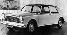 Following the success of their designs for the A55 Cambridge and A40, Pininfarina were commissioned to produce an alternative XC9001 proposal. This, their first effort dating from 1959, was effectively a scaled-up version of their contemporary proposal for the XC9002 project