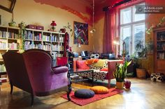 A bright + bohemian 19th century house found in the center of Krakow, Poland.