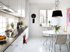 On the Kitchen Floor: Dark vs. Light