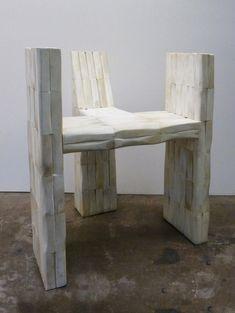 Chaise Trident en marbre, Rick Owens (Carpenters Workshop Gallery)