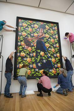 Kehinde Wiley - Contemporary Artist - Figurative & Rococo Painting - Urban Renaissance - Installation of Judith and Holofernes Rococo Painting, Kehinde Wiley, Lovers Art, Contemporary Artists, Culture Art, Art Music, Black Art Painting, Art, Judith And Holofernes