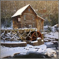 Glade Creek Mill in Babcock State Park ~ Fayette Co., West Virginia (Winter)