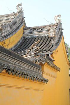 Architecture d'un temple taoiste china, suzhou