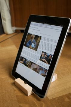 Every iPad needs a (bamboo) stand.