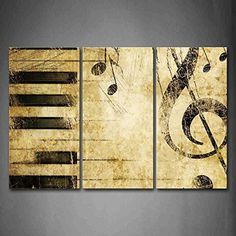 Note And Piano'S Keys In The Paper Wall Art Painting Pictures Print On Canvas Music The Picture For Home Modern Decoration music-for-little-learners