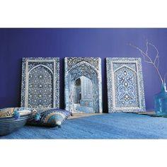 3 toiles bleues Gabès Maison du Monde