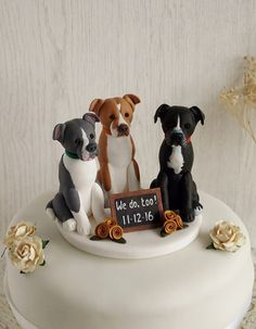 Three Dog Cake Topper Custom Dog Cake Topper by TiaLovesArchie