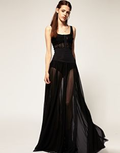 Blackheart 'Divine' Sheer High Waisted Maxi Skirt  $226.98