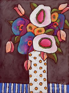 Abstract Floral Painting - Flowers - 8 by David Hinds David Hinds, Abstract Flowers, Painting Flowers, Decoupage, Diy Canvas Art, Painting Patterns, Diy Painting, Painting Inspiration, Flower Art