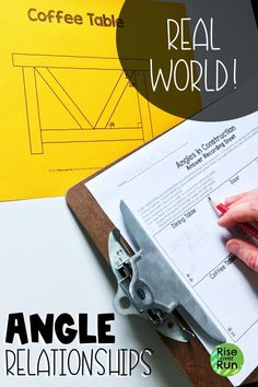 Angle Relationships Real World Application Fun Math Activities, Math Resources, 7th Grade Math, Secondary Math, Common Core Math, Math Lessons, Teaching Math, Angles, Geometry