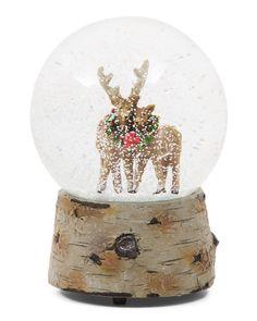 Musical+Reindeer+Snow+Globe