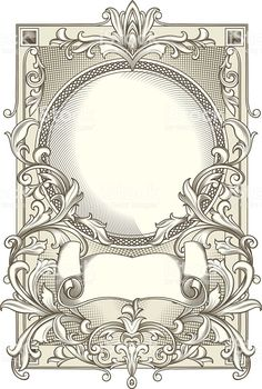 Decorative blank royalty-free decorative blank stock vector art & more images of abstract Motifs Art Nouveau, Art Nouveau Design, Schrift Tattoos, Jugendstil Design, Borders And Frames, Book Of Shadows, Free Vector Art, Line Art, Design Elements