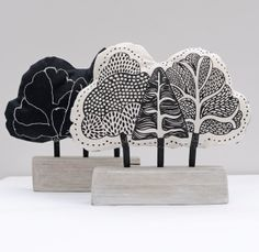 Forest Trees Fabric Ornament, by Astrid Weigel via Folksy, £30.00