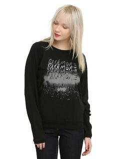 Paramore Live Girls Pullover Top, BLACK