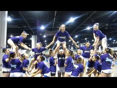 WWMS Cheer Nationals Pyramid Practice