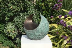 Curvation-medium, garden sculpture, indoor sculpture, garden art, modern, abstract, Limited Edition, Kara Sanches