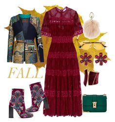 """#fall#fashion"" by selukeyho on Polyvore featuring Valentino, Zimmermann, Christian Dior, Jeffrey Campbell, Joe Fresh, GUESS by Marciano, Furla and Etro"