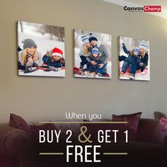 When you order 2 canvas prints for $49 or more , you'll receive an additional canvas for free! Click here to shop now! Cheap Canvas Prints, Photo Canvas, Gallery Wall, Frame, Shop, Stuff To Buy, Picture Frame, Frames, Store