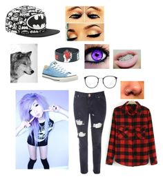"""""""hi~hope"""" by peacetea-queen on Polyvore featuring Glamorous, Converse, By Nord and Linda Farrow"""