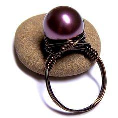 plum and bronze ring