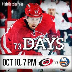 The #Canes countdown to Opening Night has begun! #IsItOctoberYet