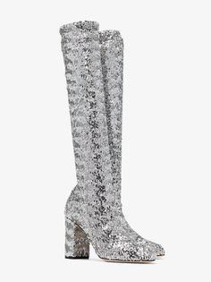 6c2372497b6 Dolce   Gabbana Women 90mm Stretch Sequins Over The Knee Boots ...