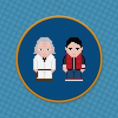 Back To The Future Characters Cross Stitch PDF by pixelpowerdesign, $4.00