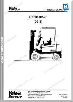 Yale Forklift Truck Type ERC040 RF/ZF, ERC050 RF/ZF