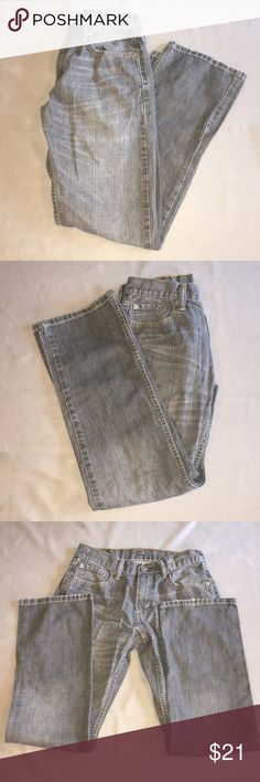 Levi's 514 Gray Jeans 29/30 Levi's 514 Gray Jeans 29/30. Gently used. The heels are in very good condition. Inseam measures approx 28.5 inches long, rise is approx 9.5 inches high and waist is approx 14.5 inches across on a flat lay. Checkout my other listings and add to a bundle to save! Levi's Jeans Straight